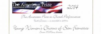 Won The American Prize in Choral Performance